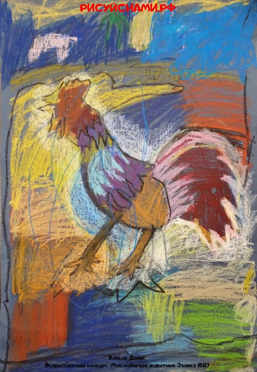 Всероссийский конкурс  Мои любимые животные Заявка 10117  творческие конкурсы рисунков для школьников и дошкольников рисуй с нами #тмрисуйснами рисунок и поделка - Бочков Денис