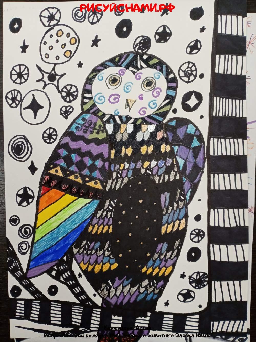 Всероссийский конкурс  Мои любимые животные Заявка 10144  творческие конкурсы рисунков для школьников и дошкольников рисуй с нами #тмрисуйснами рисунок и поделка - Каменцева  Арина