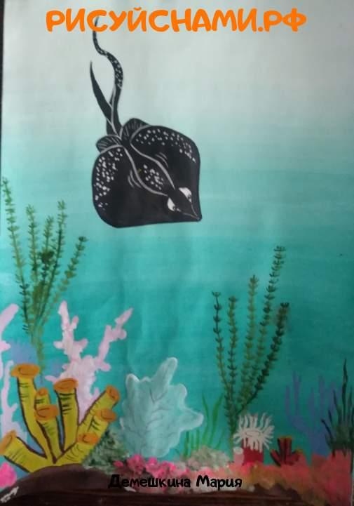 Всероссийский конкурс  Подводный мир Заявка 77646 всероссийский творческий конкурс рисунка для детей школьников и дошкольников (рисунок и поделка) - Демешкина Мария