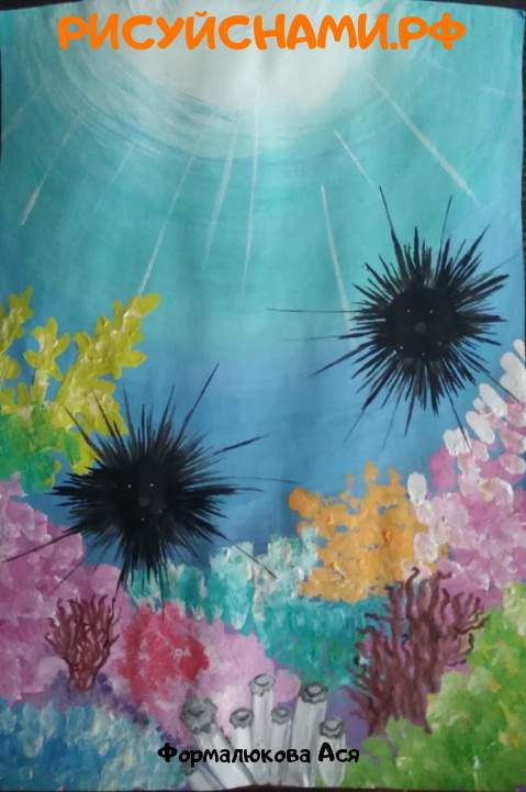 Всероссийский конкурс  Подводный мир Заявка 77651 всероссийский творческий конкурс рисунка для детей школьников и дошкольников (рисунок и поделка) - Формалюкова Ася