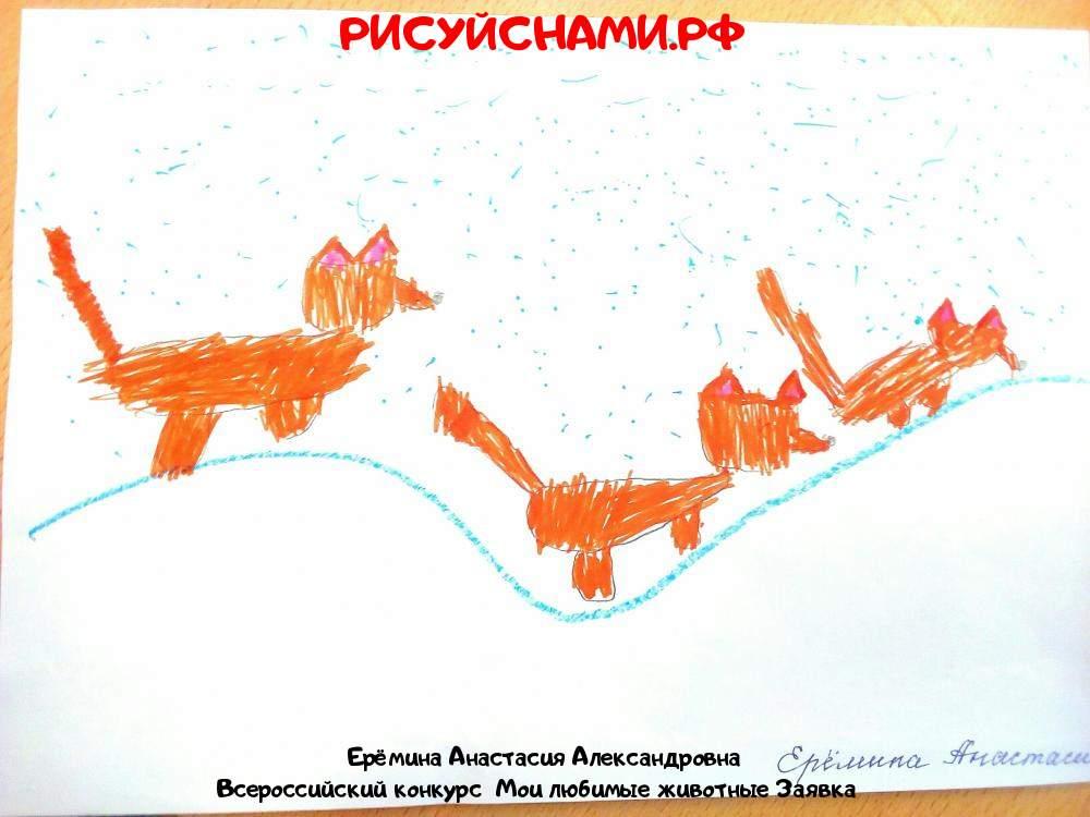 Всероссийский конкурс  Мои любимые животные Заявка 12006  творческие конкурсы рисунков для школьников и дошкольников рисуй с нами #тмрисуйснами рисунок и поделка - Ерёмина Анастасия Александровна