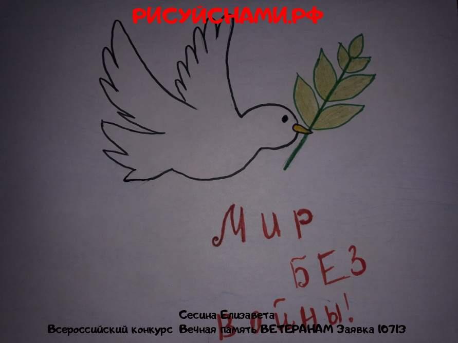 Всероссийский конкурс  Вечная память ВЕТЕРАНАМ Заявка 10713  творческие конкурсы рисунков для школьников и дошкольников рисуй с нами #тмрисуйснами рисунок и поделка - Сесина Елизавета